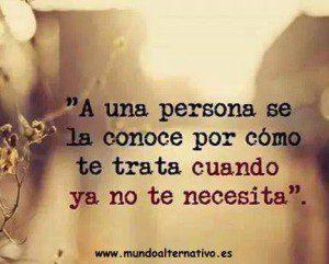 Una persona